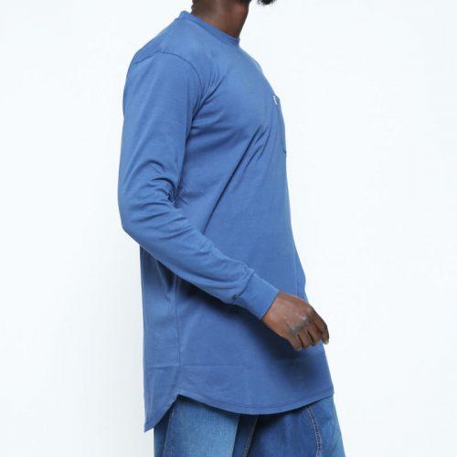 tshirt extra oversize bleu