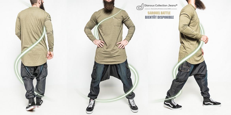 dcjeans saroual jeans battle pantalon