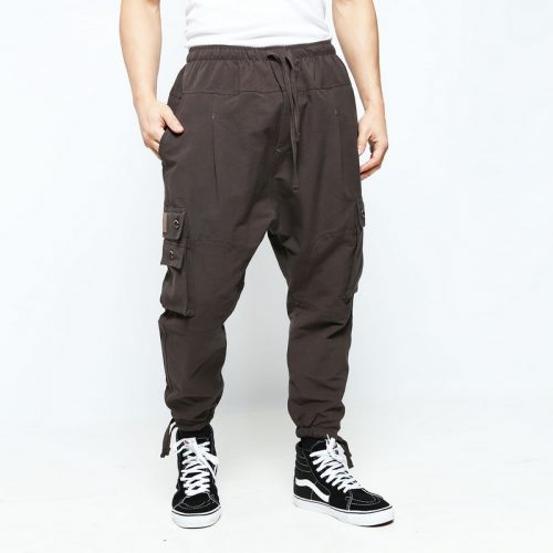 battle marron pantalon multipoches