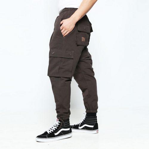 battle marron pantalon multipoches