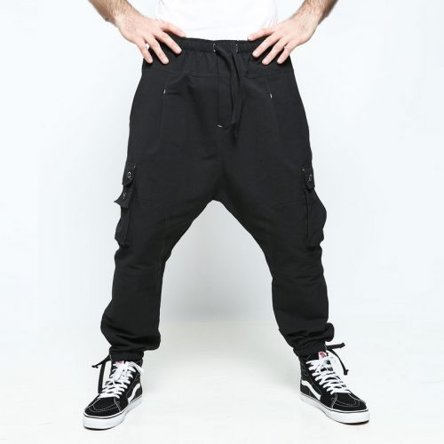 battle pantalon multipoches noir
