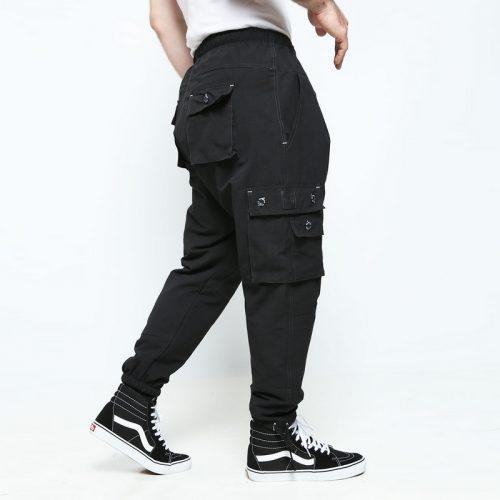 battle pantalon multipoches noir