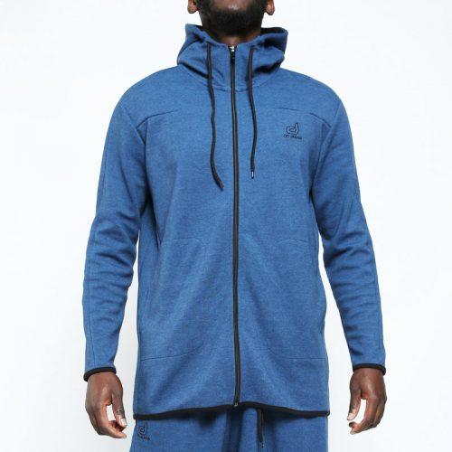 veste jogging bleu face