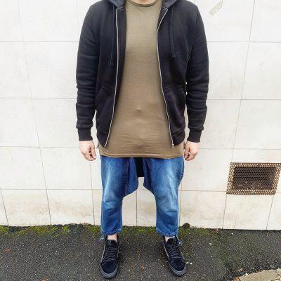 Saroual Jeans light used + Vans black
