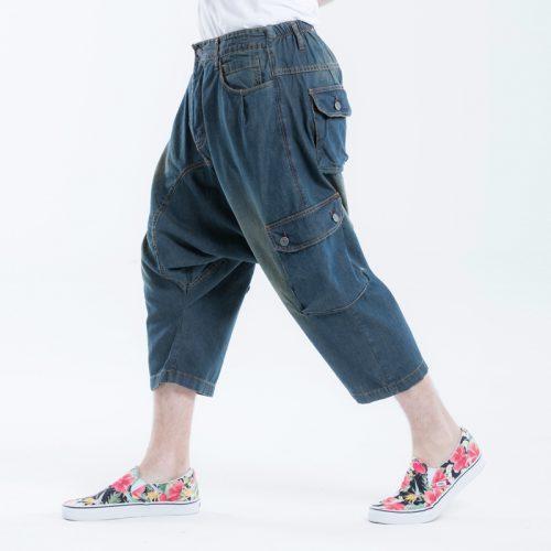 saroual jeans battle pantacourt dirty