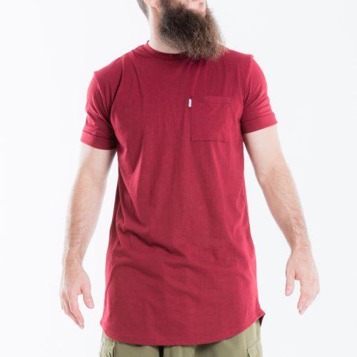 tshirt oversize manche courte bordeau