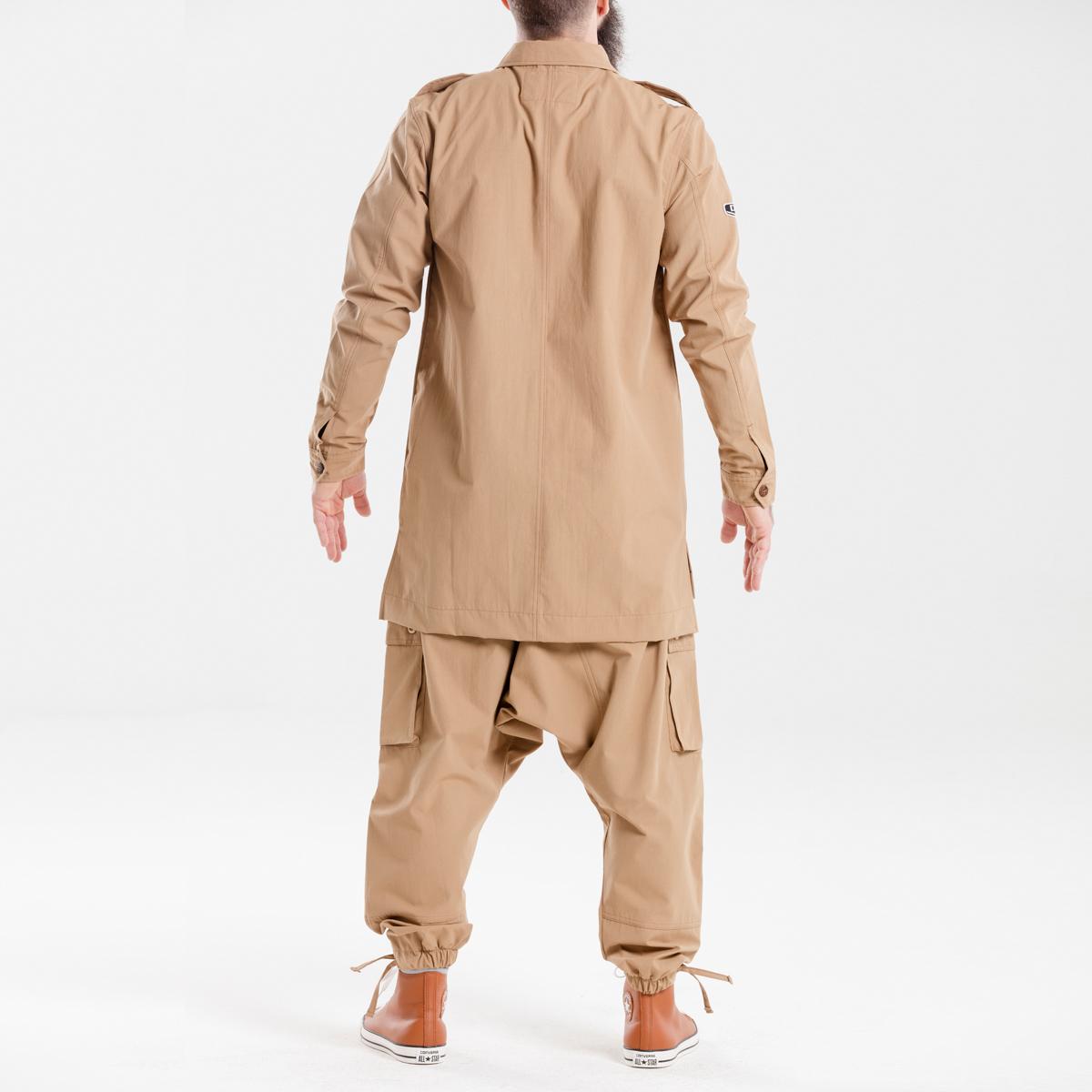 chemise veste oversize kamel dcjeans manche longue ensemble dos