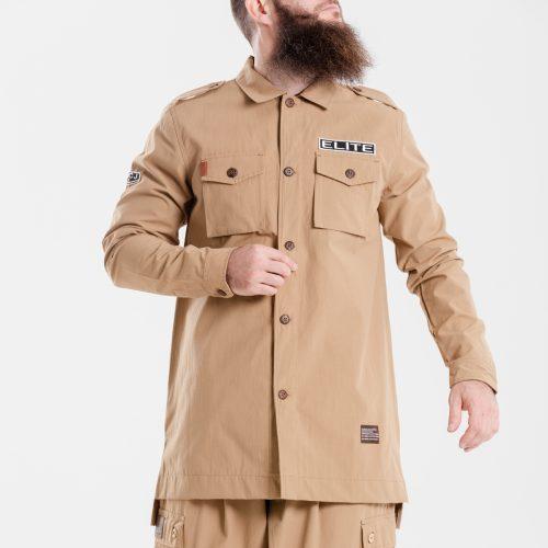 chemise veste oversize kamel dcjeans manche longue face