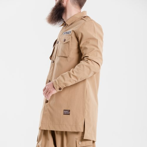 chemise veste oversize kamel dcjeans manche longue profil