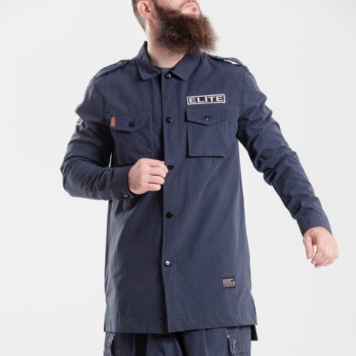 chemise veste oversize marine dcjeans manche longue face