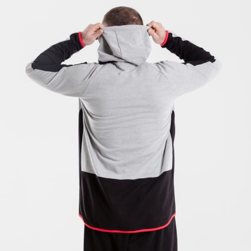 sweat capuche zip jogging evo bicolore dcjeans dos