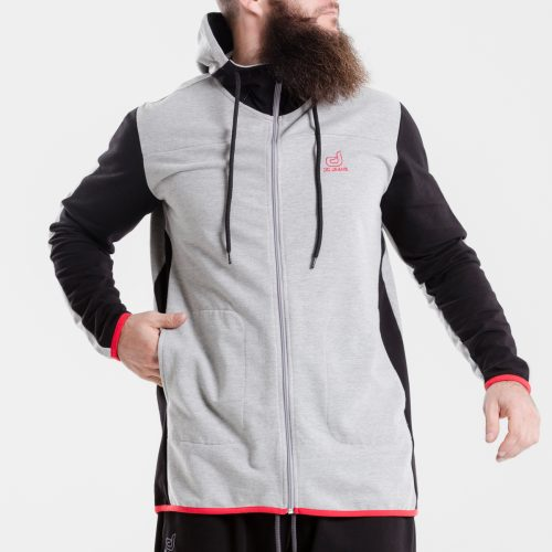 sweat capuche zip jogging evo bicolore dcjeans face