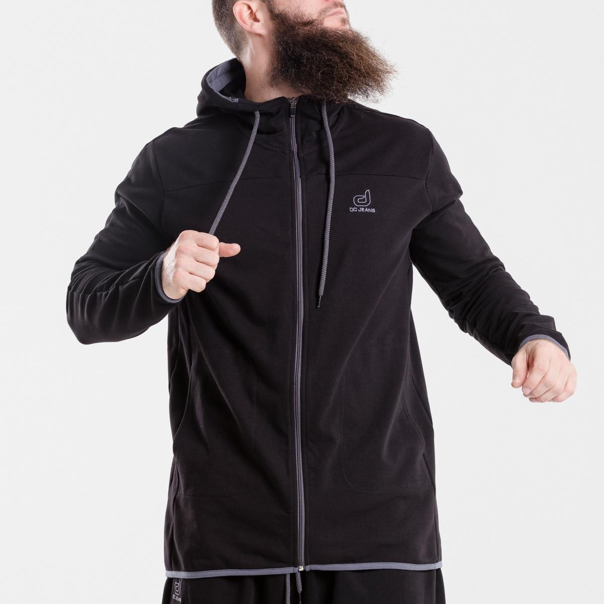 sweat capuche zip jogging evo noir dcjeans face