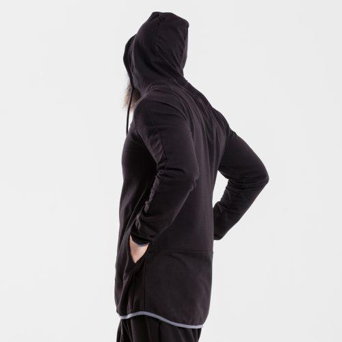 sweat capuche zip jogging evo noir dcjeans profil