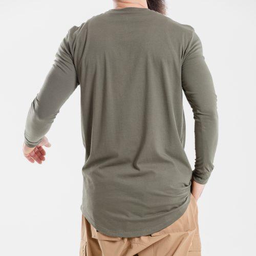 tshirt oversize kaki dcjeans manche longue dos