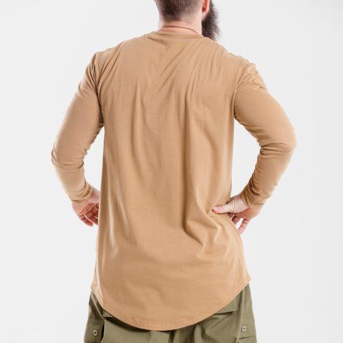 tshirt oversize kamel dcjeans manche longue dos