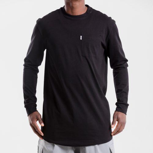 tshirt oversize noir dcjeans manche longue face