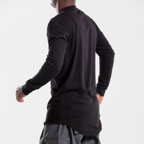 tshirt oversize noir dcjeans manche longue profil