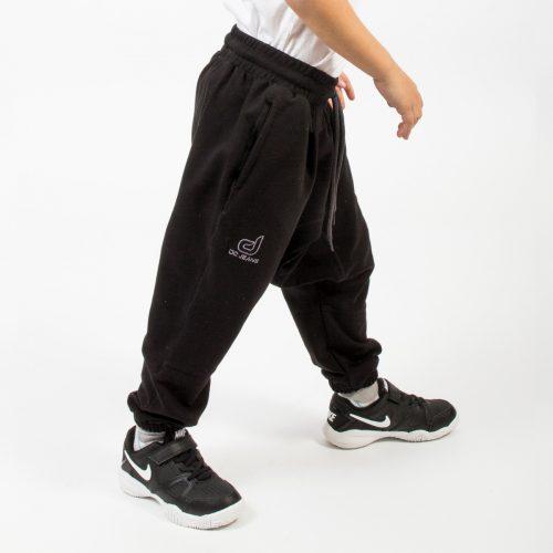 saroual jogging noir enfant profil