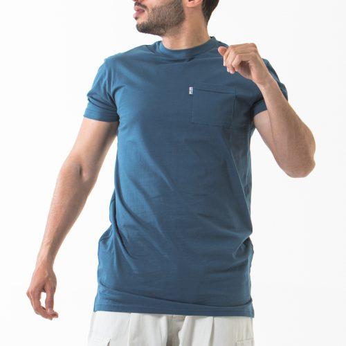 tshirt manche courte bleu indigo face dcjeans