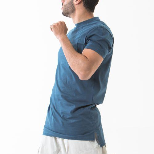 tshirt manche courte bleu indigo profil dcjeans