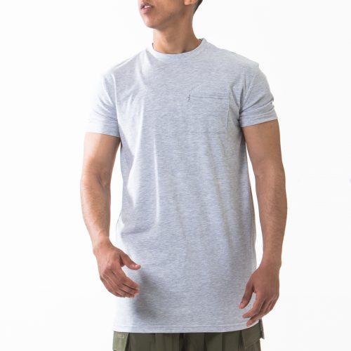 tshirt manche courte gris chiné face dcjeans