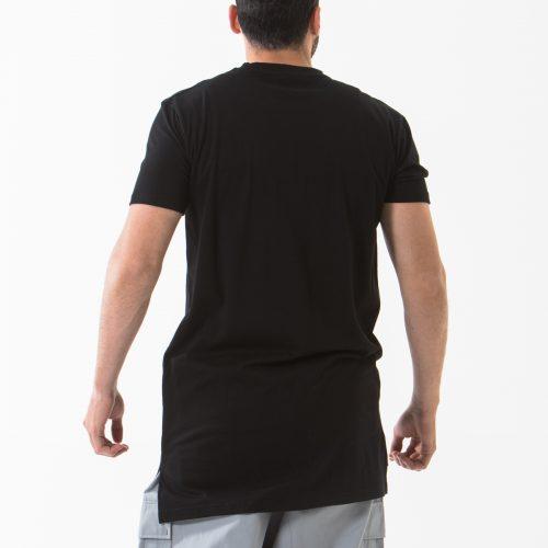 tshirt manche courte noir dos dcjeans