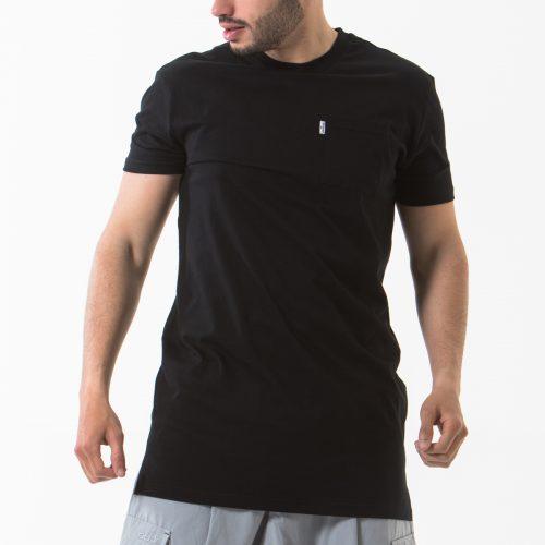 tshirt manche courte noir face dcjeans