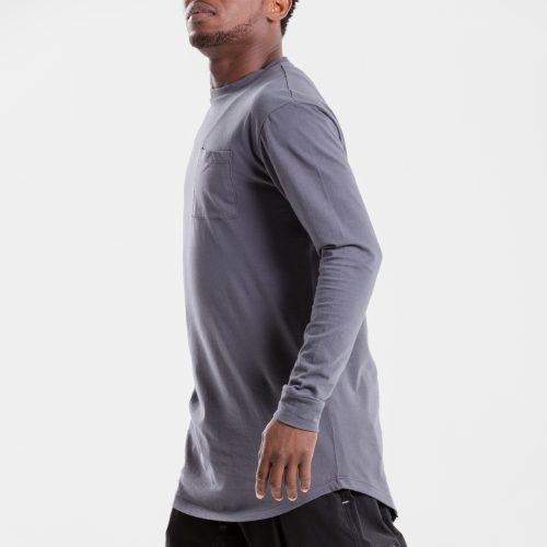 tshirt oversize anthracite dcjeans manche longue profil