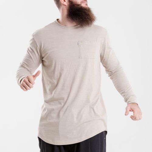 tshirt oversize beige dcjeans manche longue face