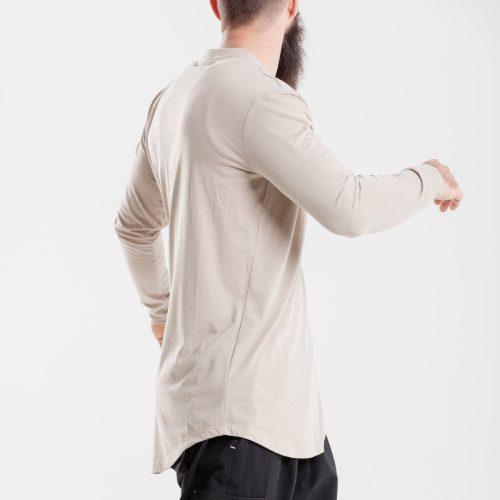 tshirt oversize beige dcjeans manche longue profil