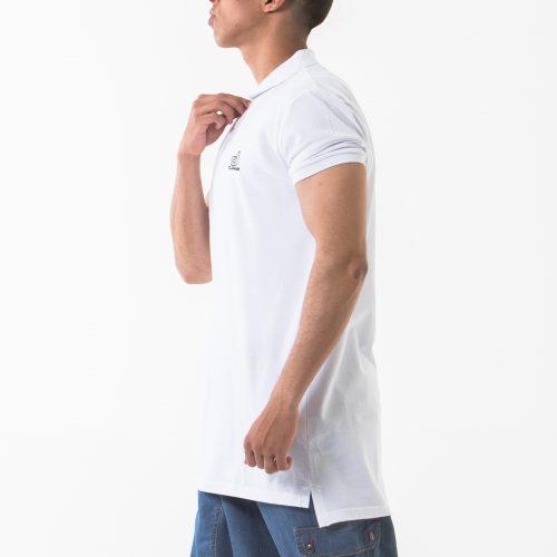 polo manche courte blanc profil dcjeans