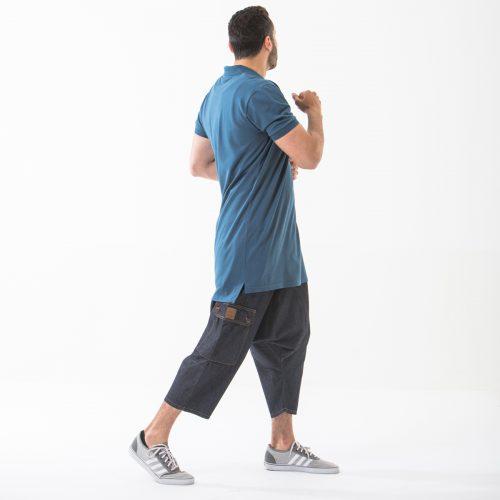 saroual jeans battle blue complet profil dcjeans