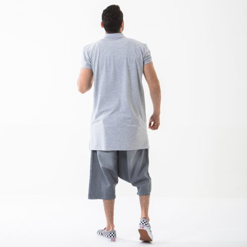 saroual short gris used complet dos dcjeans