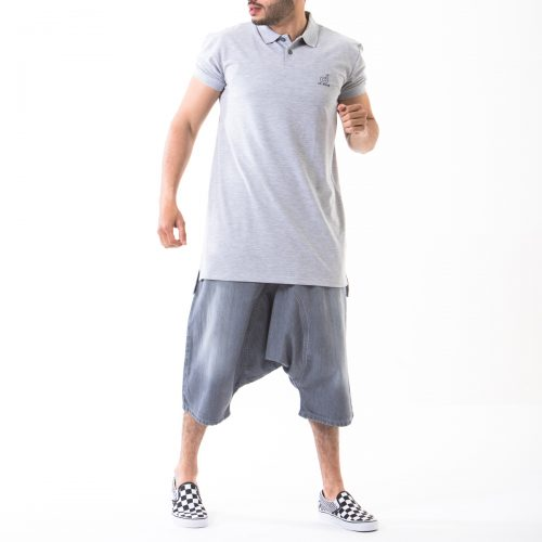 saroual short gris used complet face dcjeans