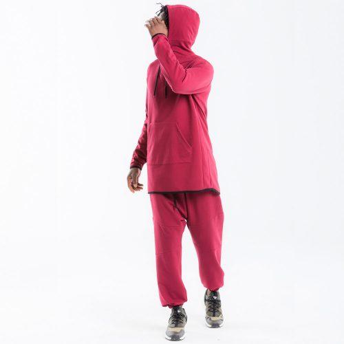 pantalon dcjeans jogging bordeau complet2