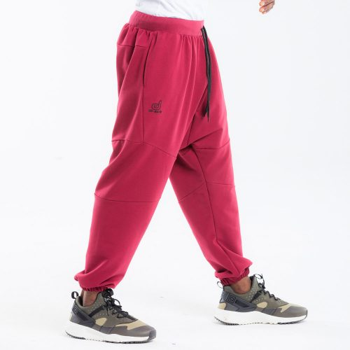 pantalon dcjeans jogging bordeau profil