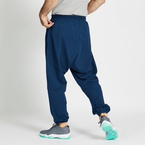 pantalon jogging long bleu dos