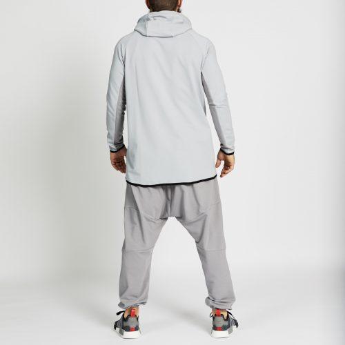 pantalon jogging long gris complet dos
