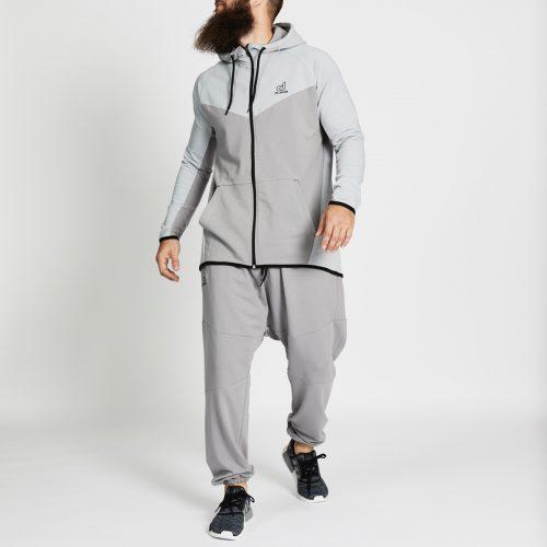 pantalon jogging long gris complet face