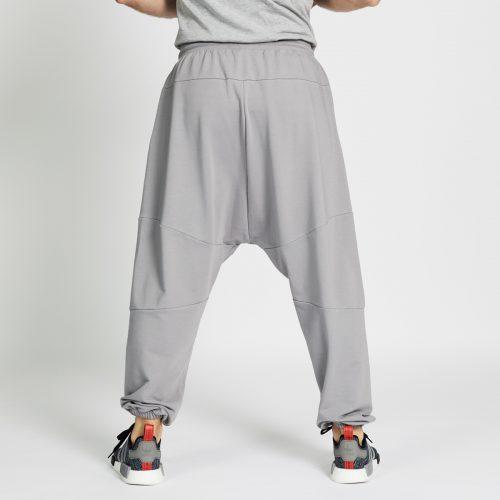 pantalon jogging long gris dos