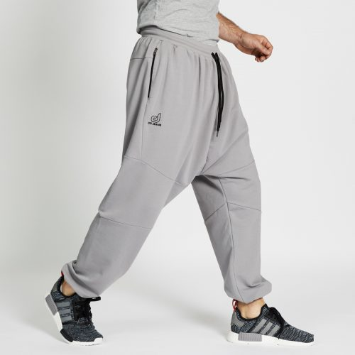 pantalon jogging long gris profil