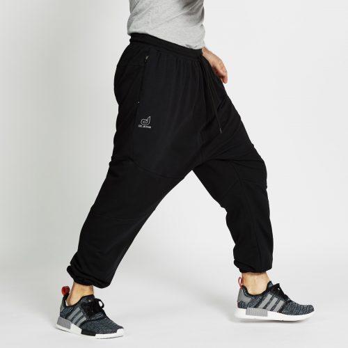 pantalon jogging long noir profil