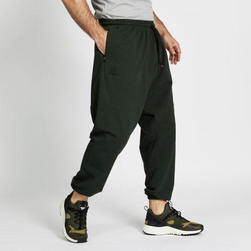 pantalon jogging long vert profil