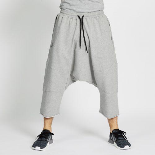 saroual jogging court gris chiné face