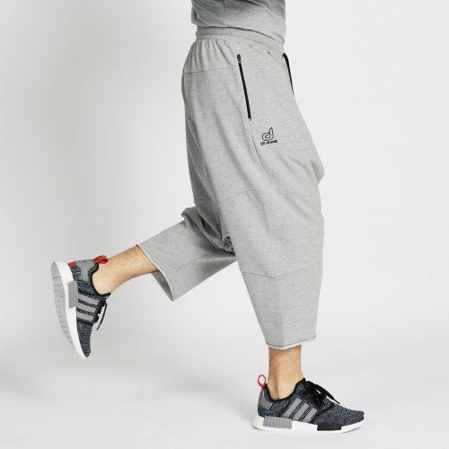 saroual jogging court gris chiné profil