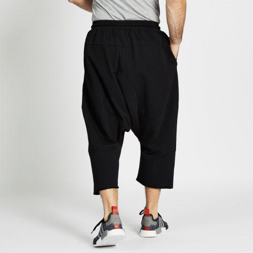 saroual jogging court noir dos