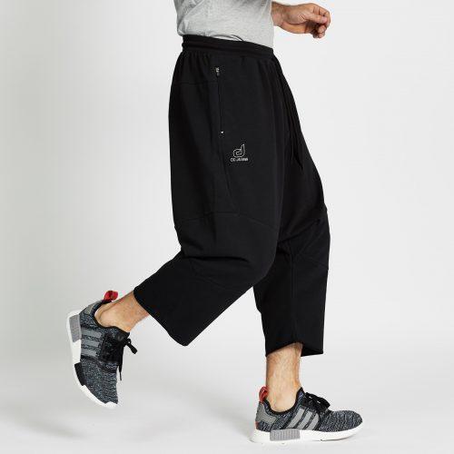 saroual jogging court noir profil