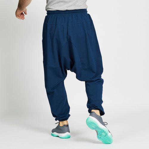 saroual jogging long bleu dos