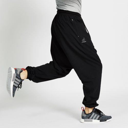 saroual jogging long noir profil